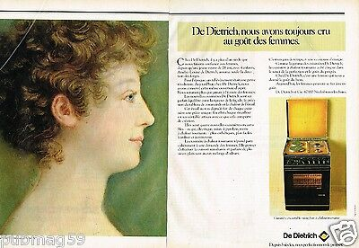 La Cuisinière De Dietrich To Win Warm Praise From Customers Enthusiastic Publicité Advertising 1980 2 Pages