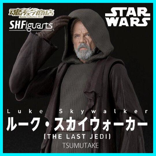 BANDAI S.H.Figuarts Star Wars Luke Skywalker THE LAST JEDI Action Figure In Stoc