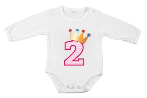 Second Birthday Baby Cotton Girl Newborn long One-piece princess