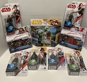 New Star Wars Force Link 1.0 & 2.0 Action Figures Lot - Force Link 2.0 with Han