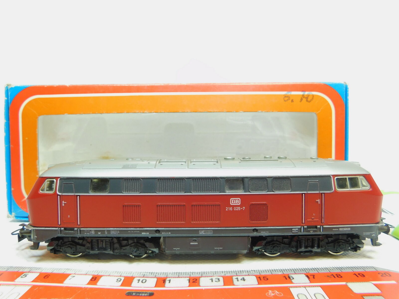 Bo69-1 märklin h0 ac 3075 diesel locomotive diesellokomotive 216 025-7 db,