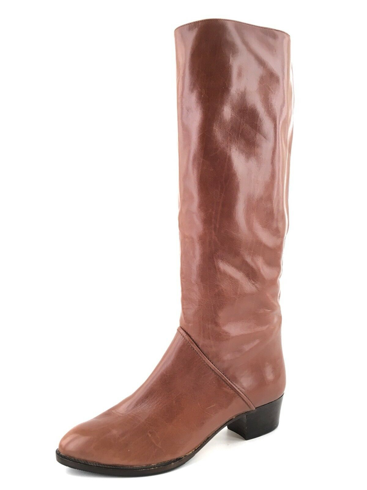 New Maserati Iguana Brown Leather Knee High Boots Women's Size 6 M