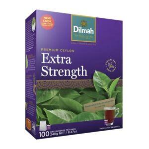 Dilmah Pure Ceylon Extra Strength Tea Bags 100 pack 240 gram