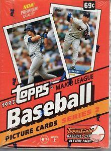 Collectible Topps 1993 Major League Baseball Series 2 Sports Trading Cards