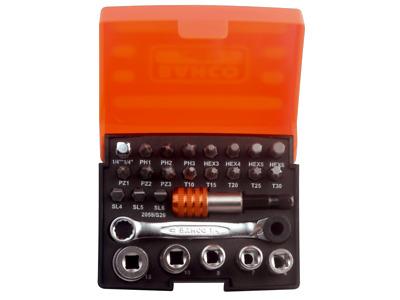 "1//4/"" Drive Metric Shallow Socket and Accessory Set Hex Torx PH PZ Bits 46pc"