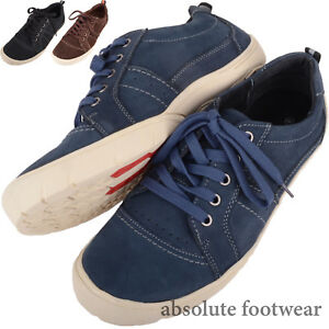 Mens / Gents Real Leather Casual Lace