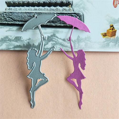 umbrella dancer scrapbook cutting dies metal die cut for diy scrapbooking decor—