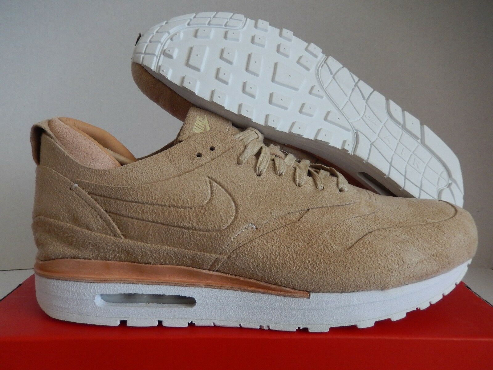 NIKE AIR MAX 1 ROYAL LINEN BROWN-SUMMIT WHITE SZ 14 [847671-221]