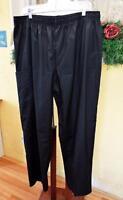Bobbie Brooks Black Elastic Waist Scrub Pants Uniform Bottom Womens 1x Plus