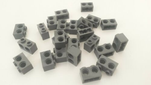 Used A281 Grey Technic Lego 1 x 2 Brick with Twin Hole Blue 20x Dark