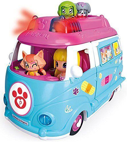 Pinypon Ambulancia de Mascotas Incluye Doctora Pin y Pon Mascota Luces y Sonidos