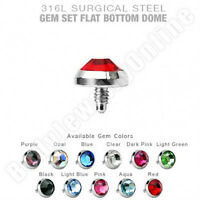 22 Dermal Anchor Tops 5mm Flat Cz 14g Surgical Steel