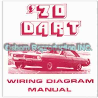 1970 Dodge Dart Wiring Diagram Manual Ebay