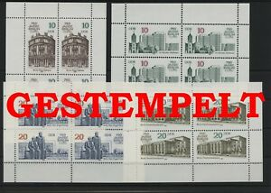 Germany-GDR-vintage-yearset-1987-Mi-3075-3078-Sheetlet-Postmarked-Used