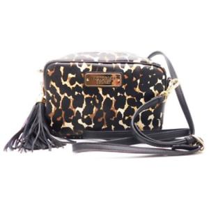 e65aa3462e264 Detalhes sobre Novo com etiquetas Victoria's Secret Leopardo Padrão  Maquiagem Cosméticos pequena bolsa de ombro, saco- mostrar título no  original