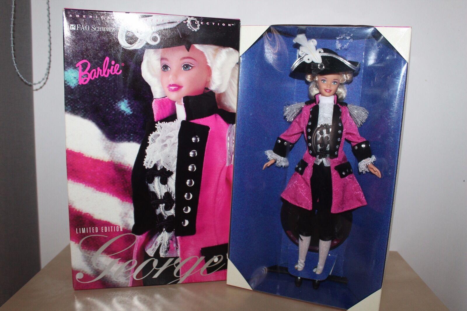 Barbie George Washington F.A.O Schwarz Limited Edition  Mattel 1996 NRFB