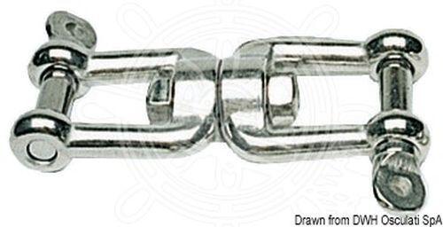 Osculati Wirbelschäkel Gabel Gabel AISI AISI AISI 316 16 mm 4aa681