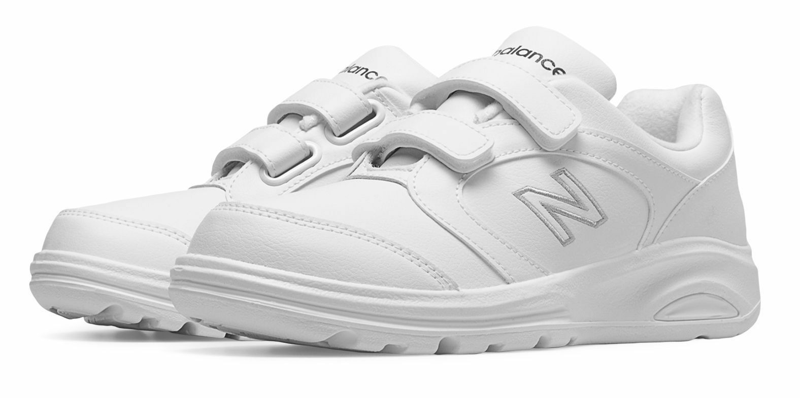 NWB NEW BALANCE WOMEN'S WALKING 674 HOOK & LOOP SHOES WHITE MSRP   99.99