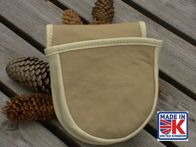LEATHER SHOOTING CARTRIDGE BAG POUCH CLAY PIGEON SKEET SHOOTING SHOOTER CCL
