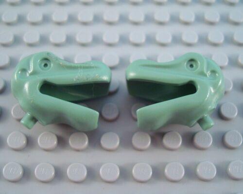 LEGO Lot of 2 Sand Green Dinosaur Animal Head Parts
