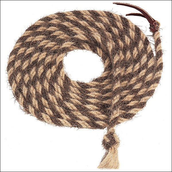 NATURAL Marronee 20ft WEAVER LEATHER TAIL HAIR MECATE cavallo He BRAIDED REINS UT