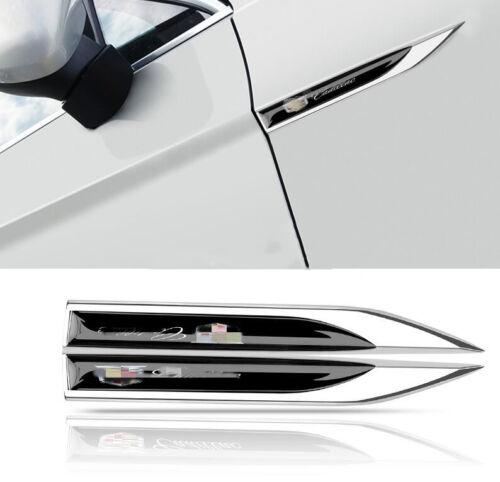 Metal Chrome Car SideImpact Bars Badge Trim 2pcs FOR Cadillac ATS XTS SRX XT5