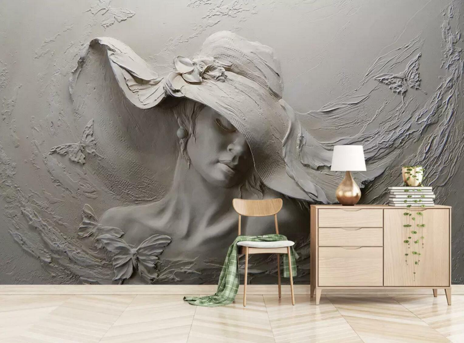 3D grau Woman 845 Wall Paper Exclusive MXY Wallpaper Mural Decal Indoor Wall AJ