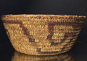 Old Native American Pima Papago Basket Woven KEY Southwestern 20th Century