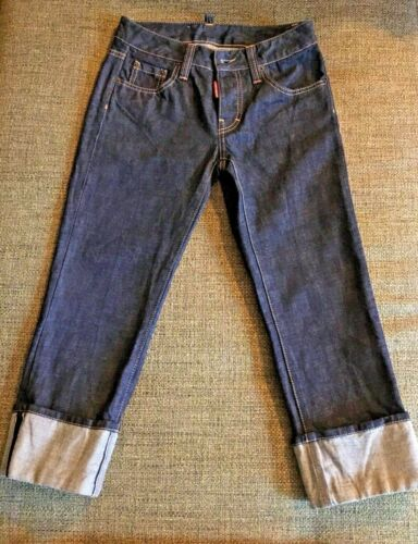 Dsquared2 Cuffed Selvedge Jeans