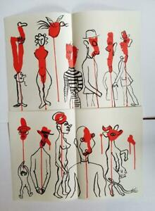 Alexander-Calder-034-TOTEMS-1-amp-2-Two-Original-Stone-Lithographs-1966-Rare