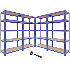 4 garage shelving units storage heavy duty metal racking