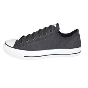 Hombre Mujer Zapatos Converse Lavado Zapatillas Lona Ox Ct As ' Negro Unisex wwU78q