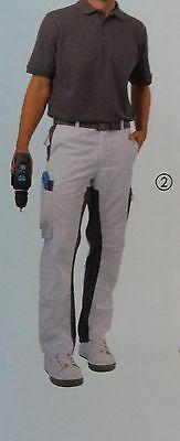 Details zu Conpart Premium Bundhose Herren Gr. 46 bis 58 Malerhose Arbeitshose Grau Weiß