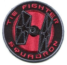 """STAR WARS tie fighter squadron EMBROIDERED IRON-ON PATCH 3"""" **FREE SHIPPING**"""