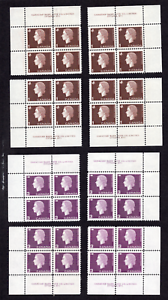 Canada Collection of Cameo Issue Inscription Block Sets MLH