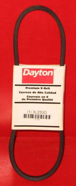 DAYTON Fabric Cover Polyester Cords V-Belt,3L250 Rubber Body