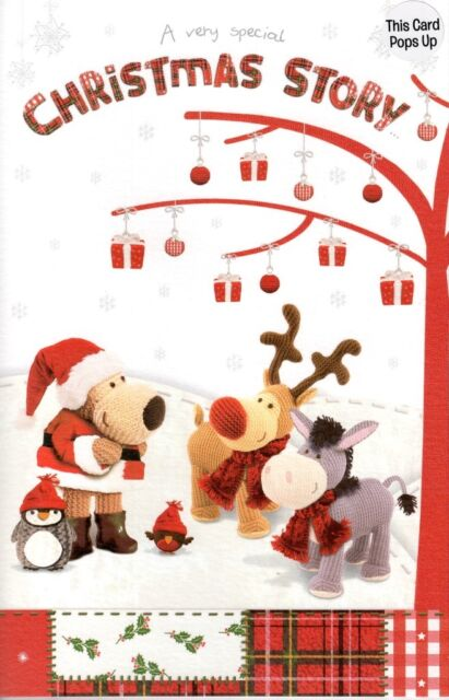 Boofle Christmas Story Card Lovely 3D Special Luxury Xmas Greeting Cards