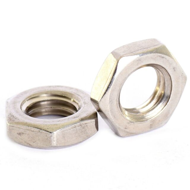 M12 X 1.0MM A2 STAINLESS FINE PITCH HEXAGON HALF LOCK NUTS HEX THIN NUT 5 PACK