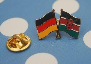 Freundschaftspin-Deutschland-Kenia-Kenya-Pin-Button-Badge-Anstecker-Flaggenpin