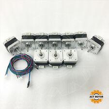 ACT Motor GmbH 10PCS Nema17 Schrittmotor 17HS3404L23P1-X1 0,4A 34mm 28Ncm D-Flat