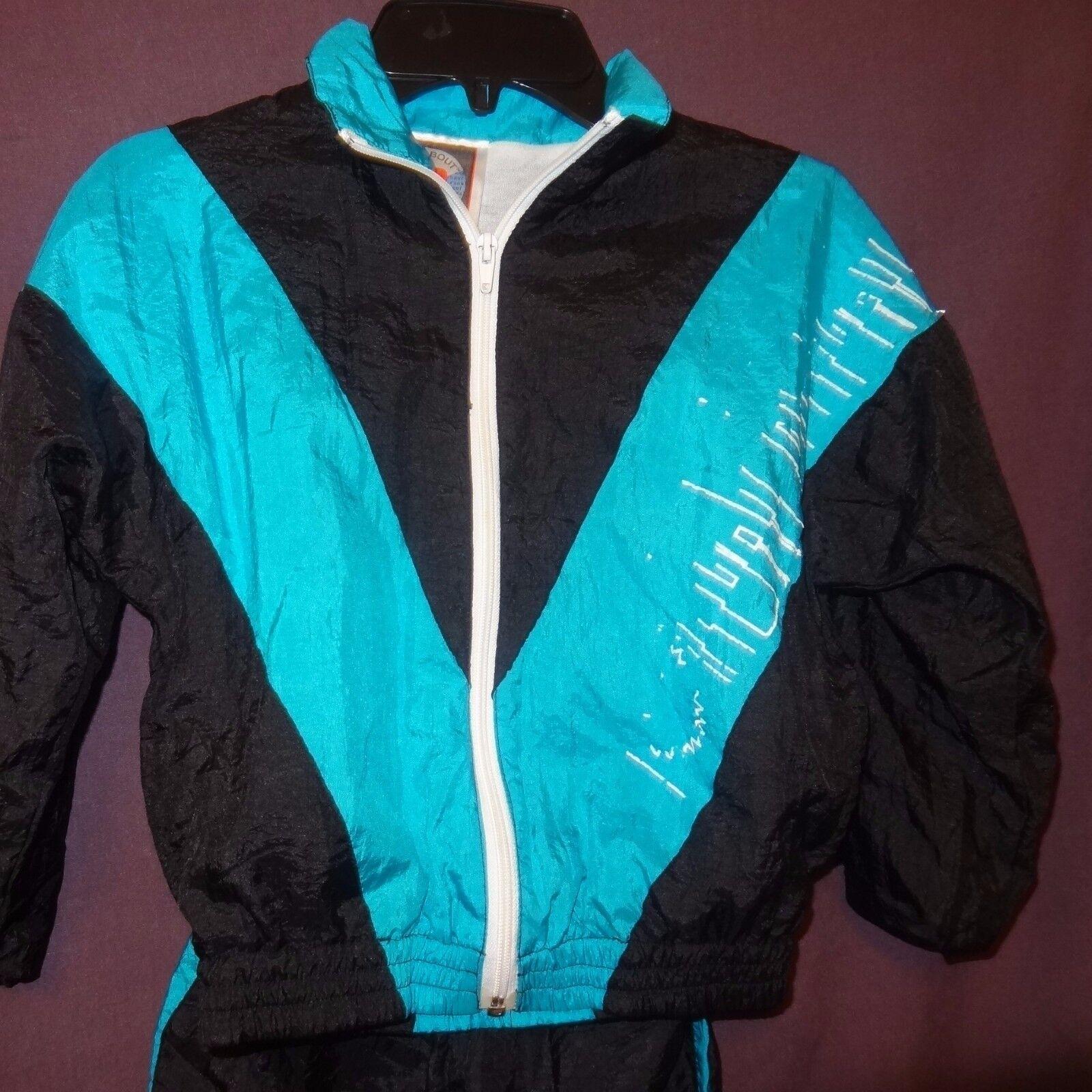 Jacket Pants Outfit Nylon bélelt méret 6 Black Blue Boys Runabout