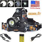 Boruit 8000LM XM-L2 LED Headlamp Zoomable Fishing Hiking Jogging Headlight Torch