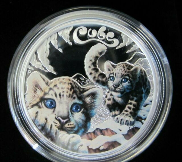 2016 The Cubs - Snow Leopard 1/2 oz Silver Proof Colorized Coin - Box &  COA