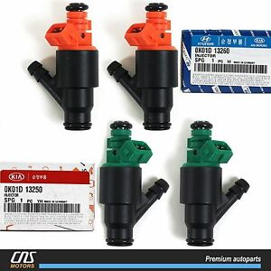 95-02-Fits-Genuine-Kia-Sportage-Fuel-Injector-Set-OEM-0K01D-13250-0K01D-13260