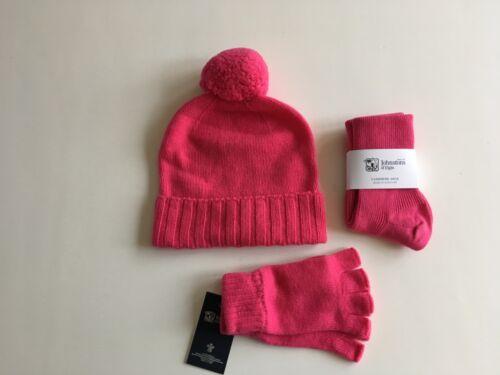 Ladies Cashmere Chapeau et mitaines gants et chaussettes Set made in Scotland