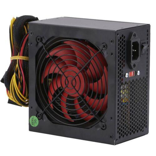 New 650-Watt Quiet 120mm Fan ATX 600W 650W Black SATA PCIE PC Power Supply USA