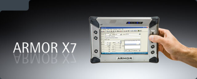 DRS Armor X7 MILITARY RUGGED Tablet Windows 7 2GB 40GB SSD TOUGH with CHAGER