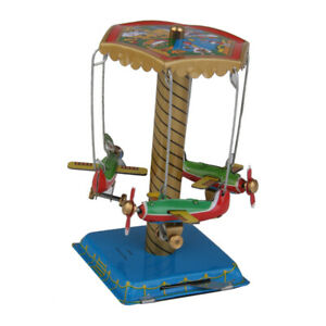 Plane Carousel Wind Up Tin Toy