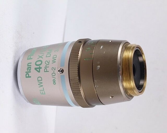 NIKON Plan Fluor ELWD 40x Ph2 DM Phase Contrast Eclipse Microscope Objective