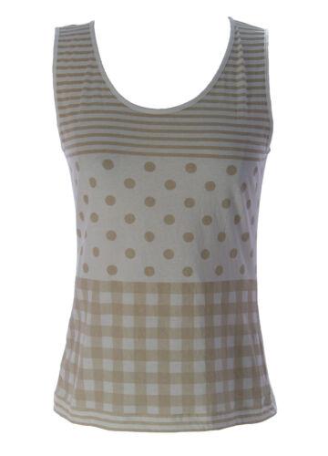 Lunn Women/'s Didine Chantilly Polka Dot Tank Top E114LB123 $80 NEW
